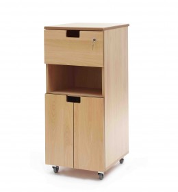 Bedside locker - flap, shelf, cupboard