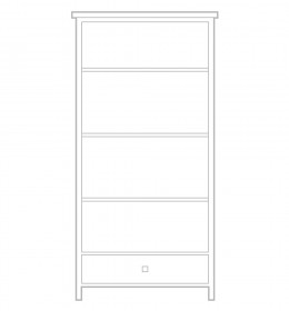 Tall Bookcase with drawer