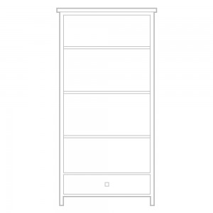 New England Tall Bookcase with drawer