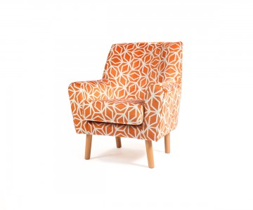 The Lundy Care Home Lounge Chair Offers Comfort With Retro Style