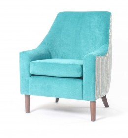Rona mid back contract lounge or bedroom chair striped surround