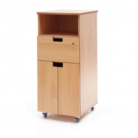 Hospital bedside locker - shelf, drawer, cupboard