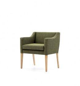 Barra generous care home tub chair with loose seat cushion -  Green Fabric