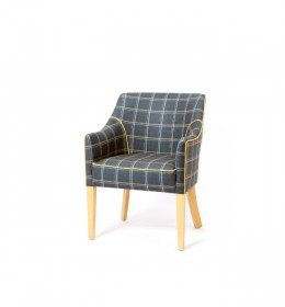 Kenwood compact contract tub chair for hotels, care homes and sports and social clubs in SMD ILIV Dornoch fabric - ideal dining tub chair