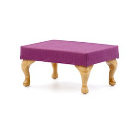 Medium, queen anne leg footstool