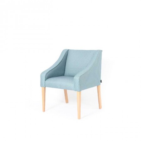 Rathlin hotel tub chair in blue fabric