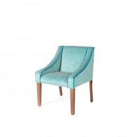 Rathlin hotel tub chair in Panax Adelphi teal fabric