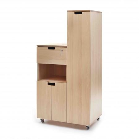 Hospital bedside locker - flap, shelf, cupboard