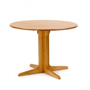 Pedestal dining table, round