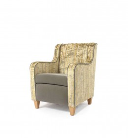 Luxury hotel mid back chair for hotel and care home lounges - her ein Sunbury Bella and Utopia fabrics