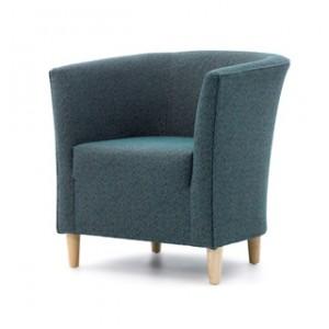 Jura tub - wooden leg tub chair