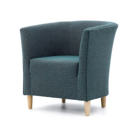 Jura contract tub chair with fixed seat for clubs, hotels or care homes - bar, lounge or bedroom