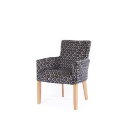 Canterbury care home desk or dining tub chair in geometric fabric