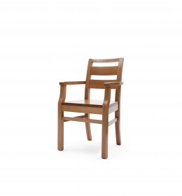 Pamanova - Extreme, tough, polished dining chair with arms for challenging behaviour settings such as autism, learning difficulties