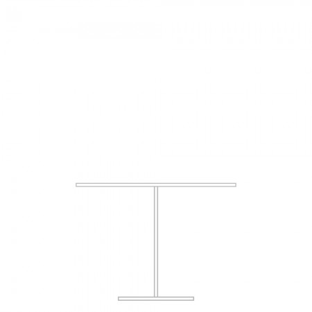 Pedestal dining table, D end