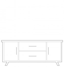 Sideboard, low, 2 drawer