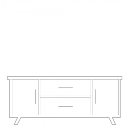 Manhattan Sideboard, low, 2 drawer