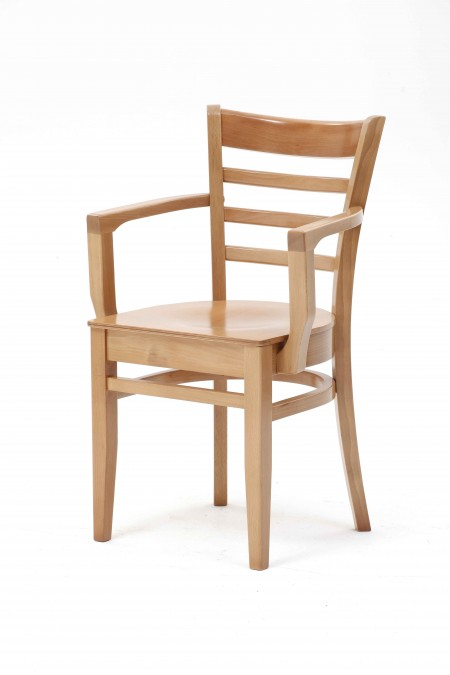 St Neots polished arm chair