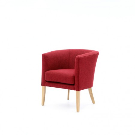 Ultima - luxury hotel tub in plain red fabric