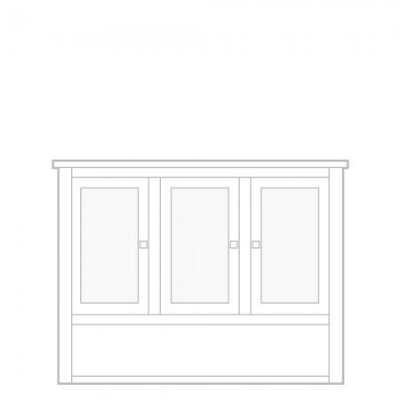 New England Dresser Top, 3 door