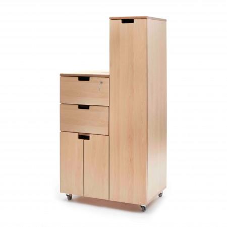 Hospital bedside locker - flap, side door, drawer, cupboard