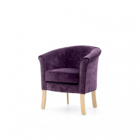 Devon popular care home lounge tub chair in purple fabric