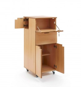 Bedside locker - flap, side door, drawer, cupboard