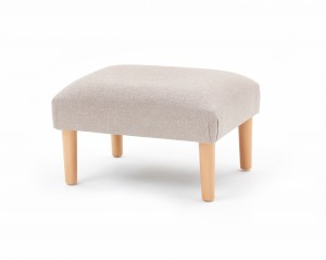 Large domed round, taper leg footstool