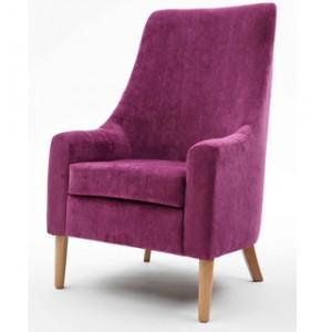 Rona high back lounge chair