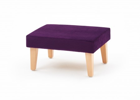 Medium square, taper leg footstool