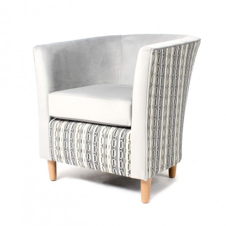 Jura contract tub chair with loose cushion for clubs, hotels or care homes - bar, lounge or bedroom