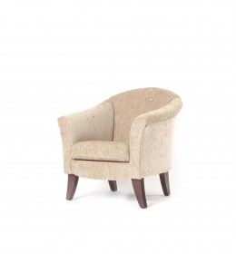 The Manor tub chair is a very generous size, ideal for hotels, sports and social cubs and care homes  - here in Agua Juno mink fabric