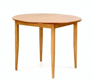 Dining table, round, HPL finish