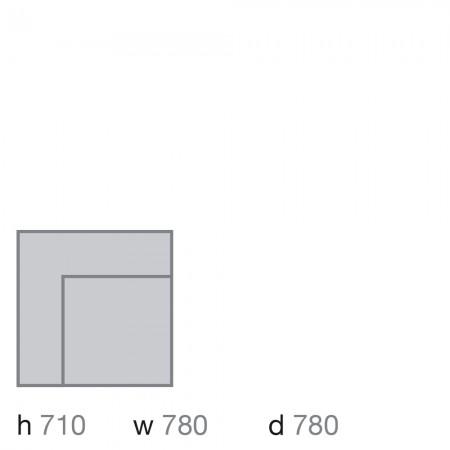 Oslo modular, corner unit
