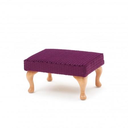 Medium, queen anne leg footstool