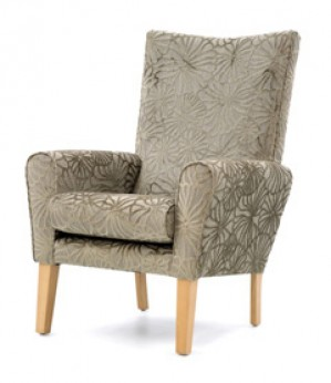 Abbey high back lounge chair
