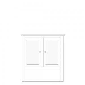 New England Dresser Top, 2 door