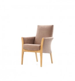 Worsborough lounge chair with show wood ideal for healthcare, care home and nursing home settings