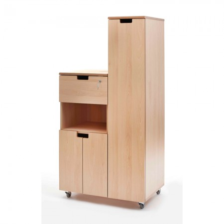 Hospital bedside locker - flap, shelf, cupboard