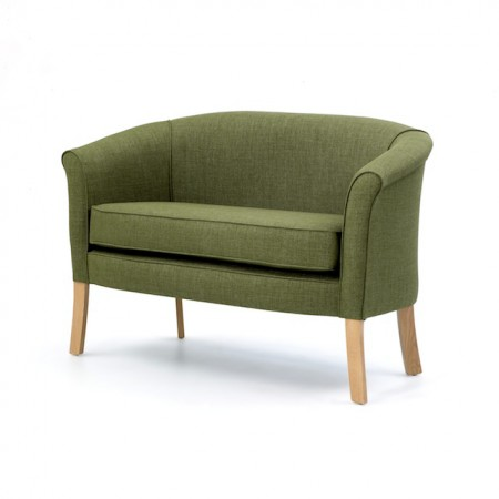 Devon popular care home lounge 2 seater in green fabric