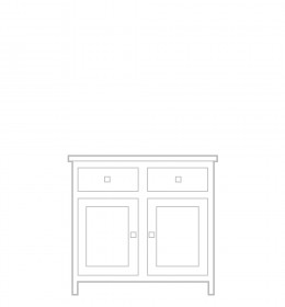 Sideboard, 2 door, 2 drawer