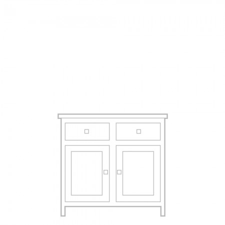 New England Sideboard, 2 door, 2 drawer